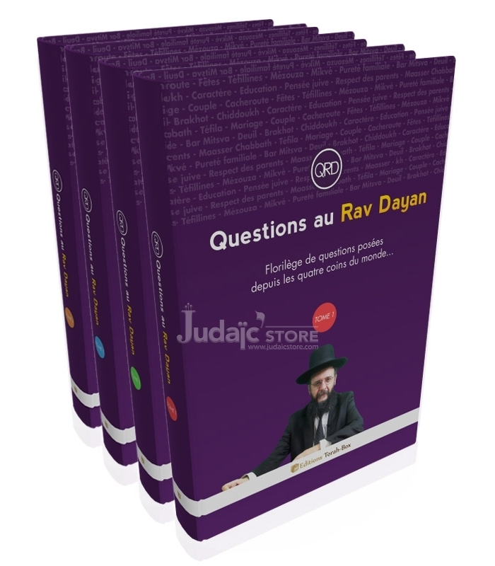 "Coffret ""Questions au Rav Dayan"" (4 tomes)"