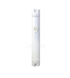 Boitier de Mézouza blanc 15 cm