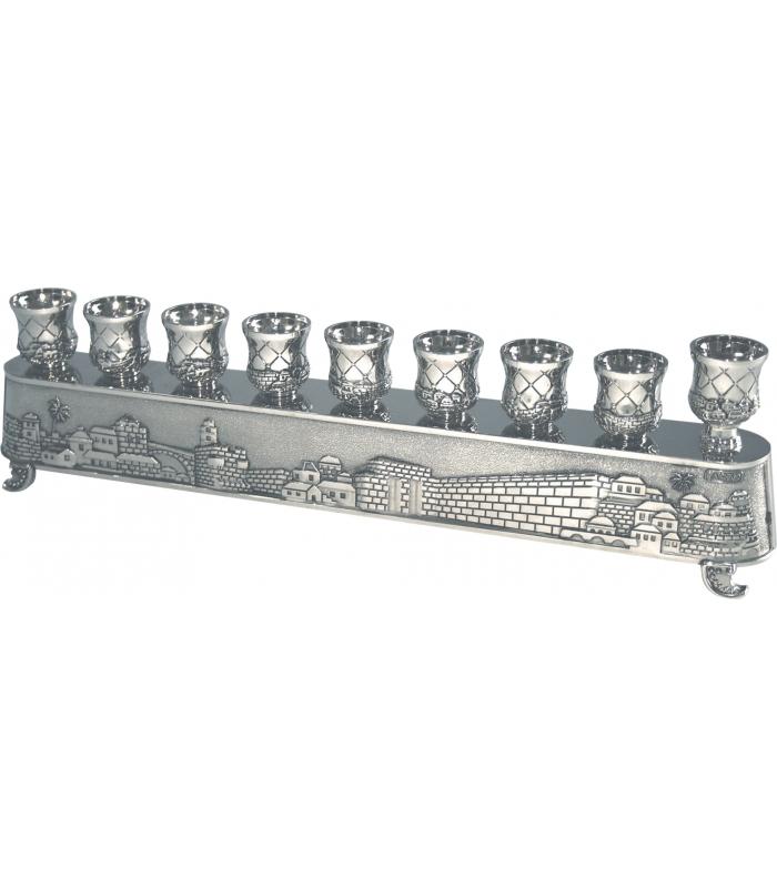 Hanoukia Metal Jerusalem 30x8.5cm