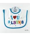 """Bavoir """"I Love You A Latke"""""""