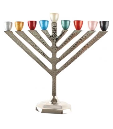 Hanoukia Aluminium et Branches Multicolore 25cm