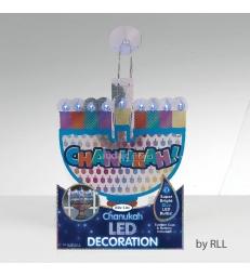 Décoration de fenêtre de Hanukah LED