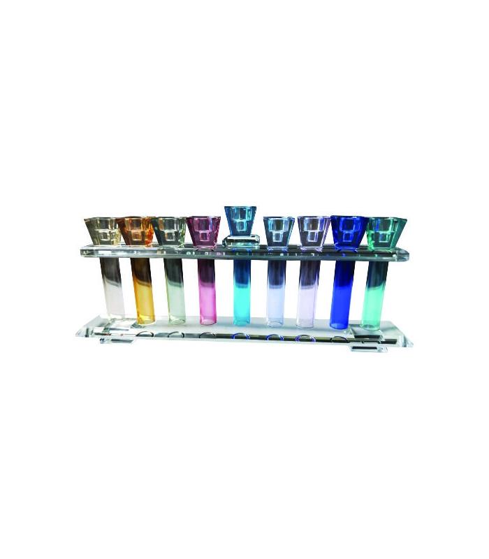 Hanoukia Cristal 33x13cm - Colorée