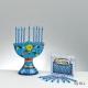 Ensemble Mini hanoukia - Comprend hanoukia et 44 bougies