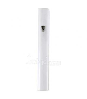 Mezouza en Aluminium 12cm- Blanc