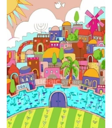 Jérusalem surréaliste – Peinture par numéros
