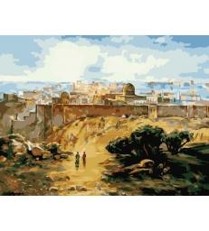 Paysage de Jerusalem – peinture par numéros Natan Cooper