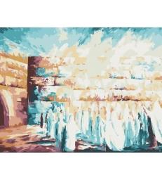 """Le """"kotel"""" abstrait – peinture par numéros Tamar Zeitlin"""
