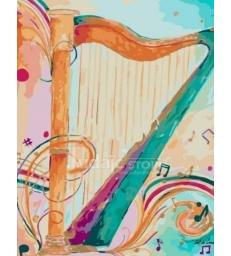 Harpe du roi David – peinture par numéros Tikva tsadik