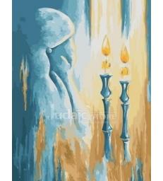 Allumage des bougies de Shabbat – peinture par numéros Tamar Zeitlin