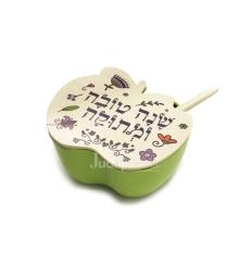 Pot à miel Shana Tova vert