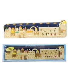 """Hanoukia """"JERUSALEM"""", Céramique peinte à la main"""