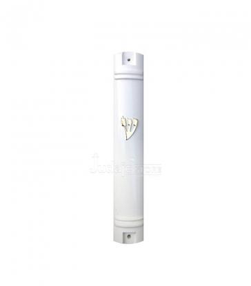 Boitier de Mézouza blanc 10 cm